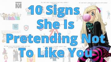 Signs he pretending not to like you